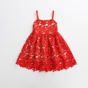 Other - Nadia- Red Eyelet Dress